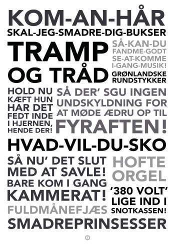 DJ McMuffin citater på en plakat