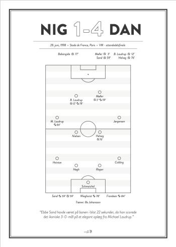 Dansk fodbold fan plakat VM 1986
