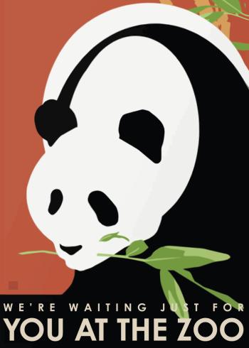 zoo plakater med pandaer