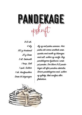 mad plakater med opskrift på pandekager