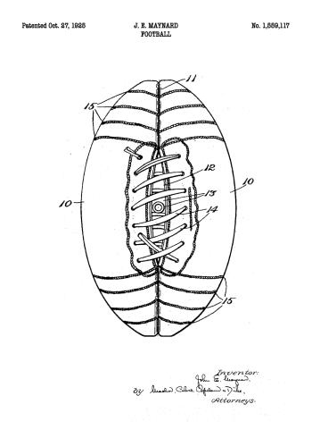 original amerikansk fodbold med patent