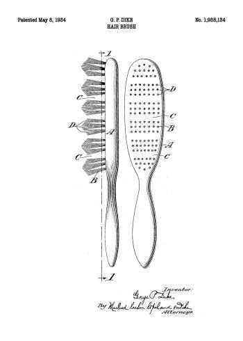 patent plakat af børste