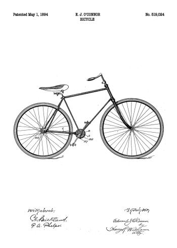 cykel patent plakat