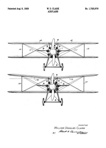 patent plakat med flyver