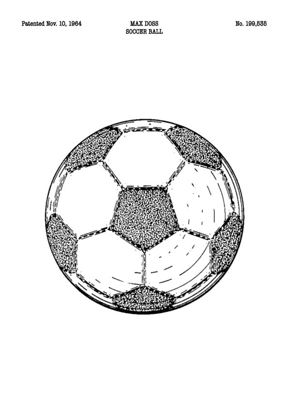 fodbold patent plakat