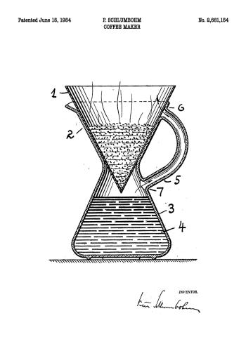 patent tegning af filter kaffe