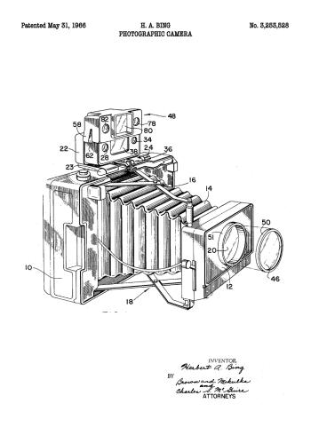 plakater med patent tegning af fotografiaparat