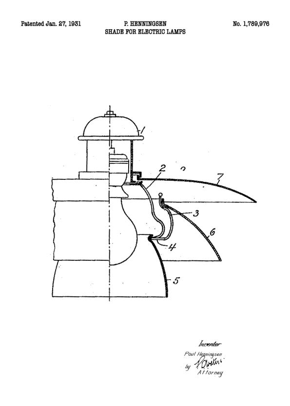ph lampe patent tegning