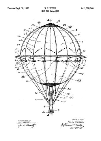 luftskib patent plakat