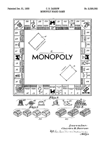 monopoly patent tegning
