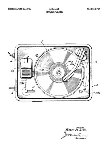 grammofon patent plakat