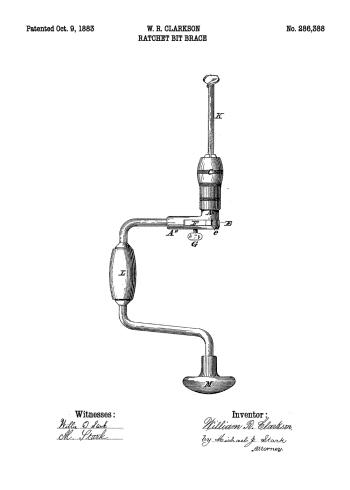 boresmaskine patent plakat