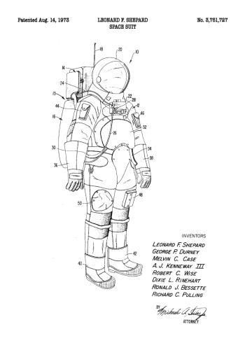 patent plakat af astronaut dragt
