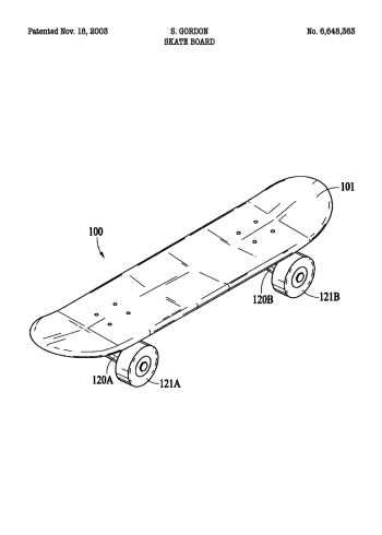 skate board patent plakat