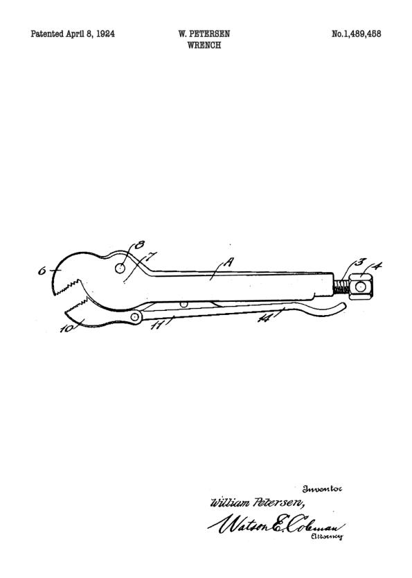 rørtang patent plakat