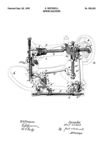 symaskine patent plakat