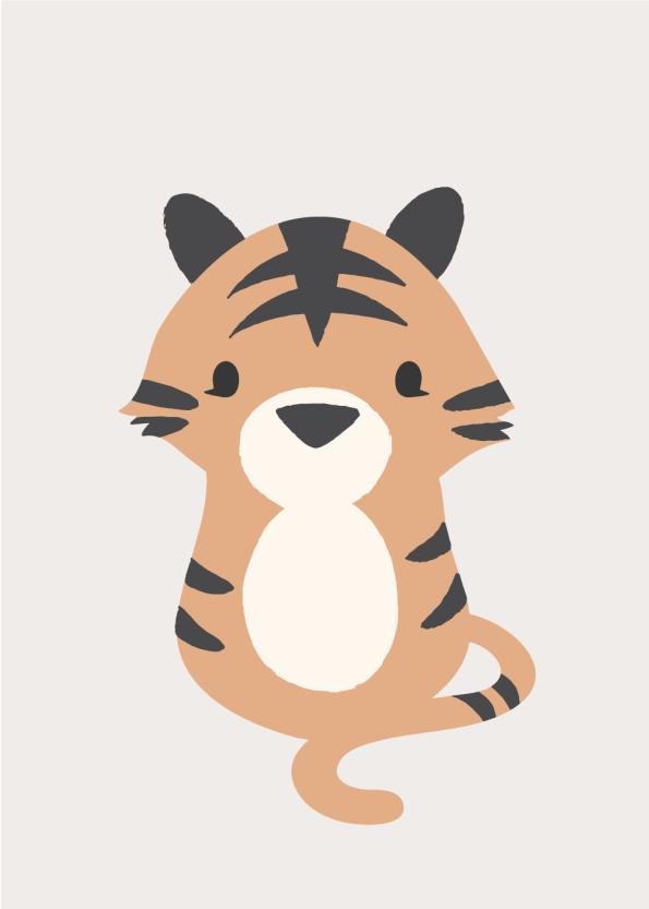 plakater med dyr til børneværelset