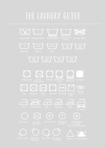 laundry guide poster in fint design