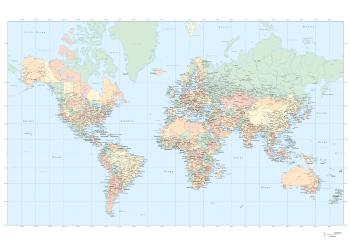 political world map plakat