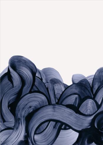 kunstplakater med fingermaling i blå