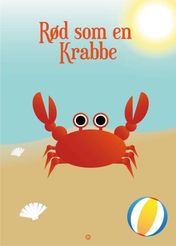 Ordsprog plakat: Rød som en krabbe (talemåde)