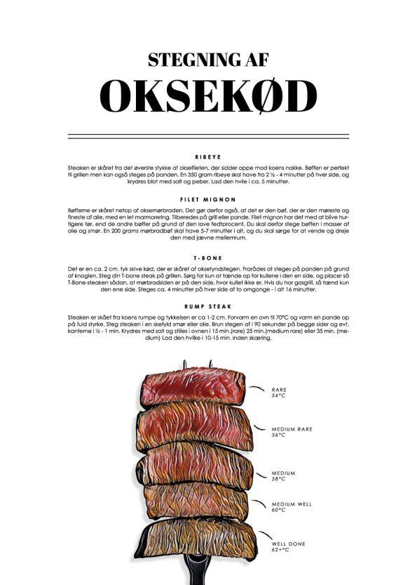 stegning af bøffer af oksekød