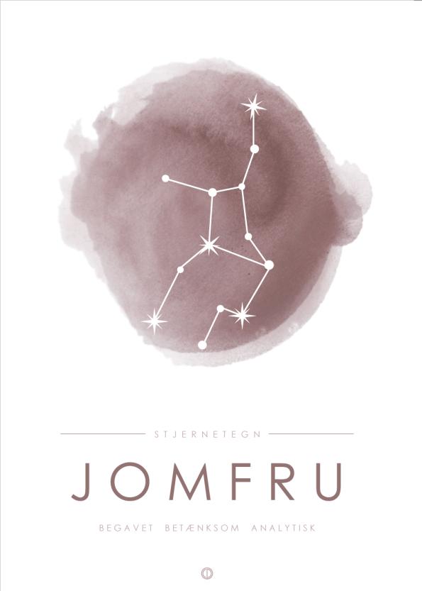 stjernetegn plakater med stjernebillede af jomfruen i lyserød