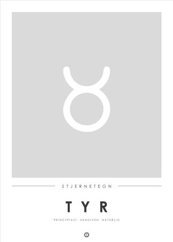 Tyren stjernetegn i minimalistisk stil