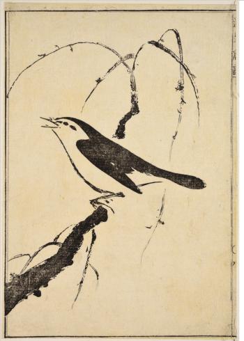 plakat med japansk fugl