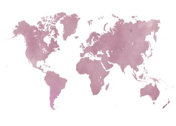 verdenskort plakater i lyserød watercolor