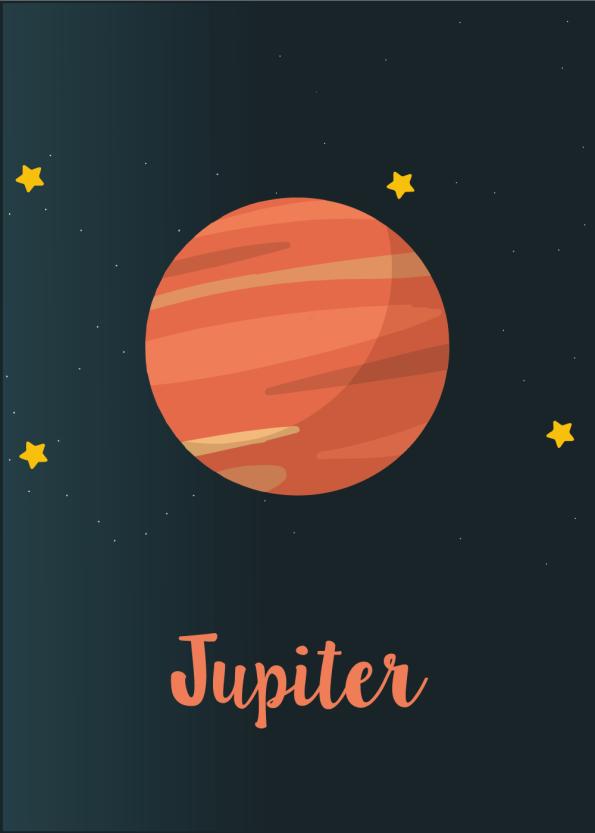 Planet plakat med Jupiter til børneværelset