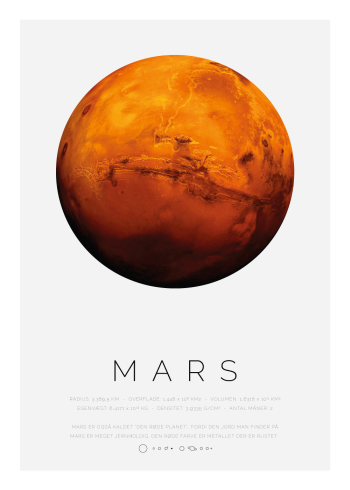 Planet plakat med Mars