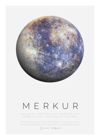 Planet plakat med Merkur