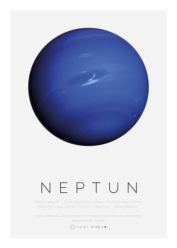 Planet plakat med Neptun