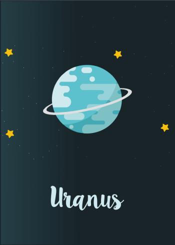 Planet plakat med uranus til børneværelset