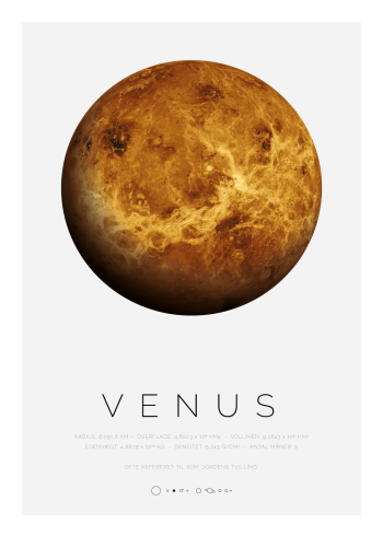 Planet plakat med venus