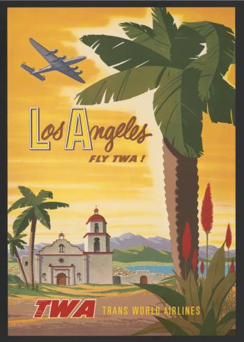 retro plakat med LA