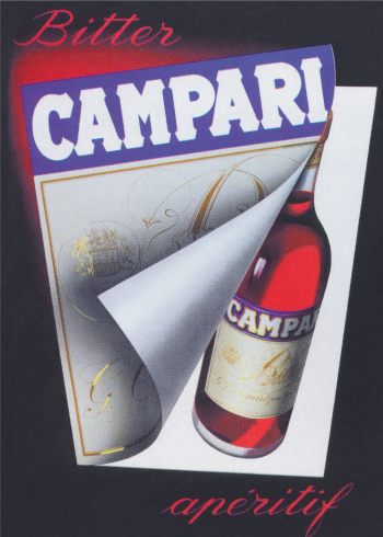 retro plakater med alkohol campari