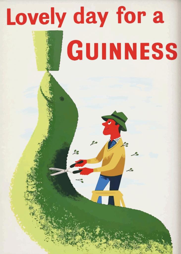 retro plakater guinness alkohol