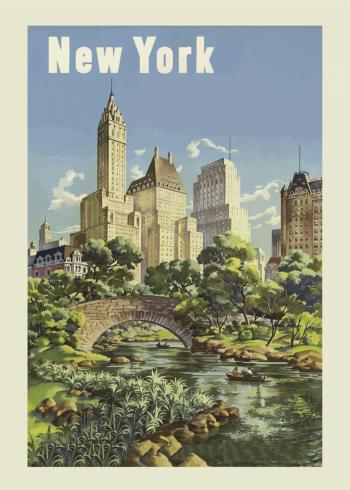 by plakat med new york