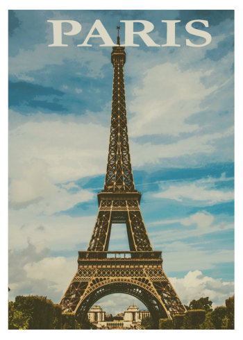 retro by plakat med paris