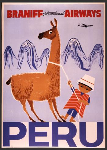 retro plakat med peru