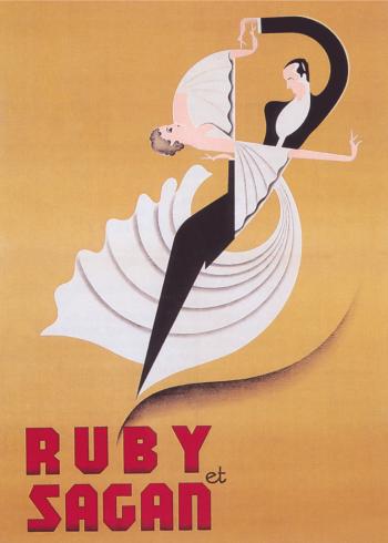 vintage plakater med dansende par