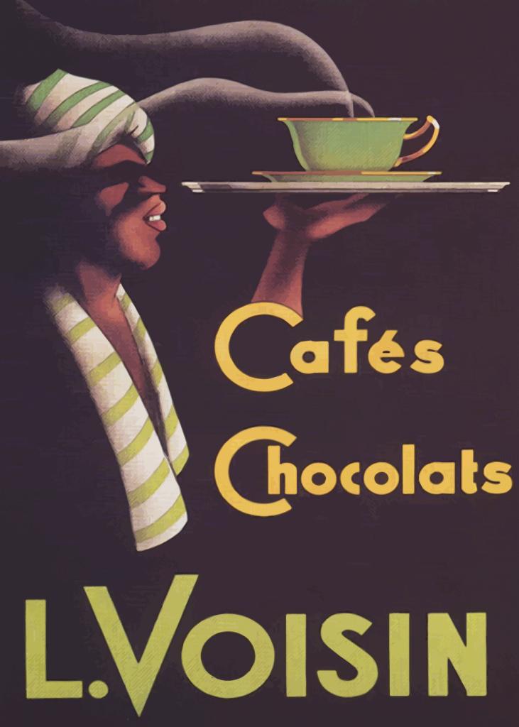 retro plakater med chokolade og kaffe