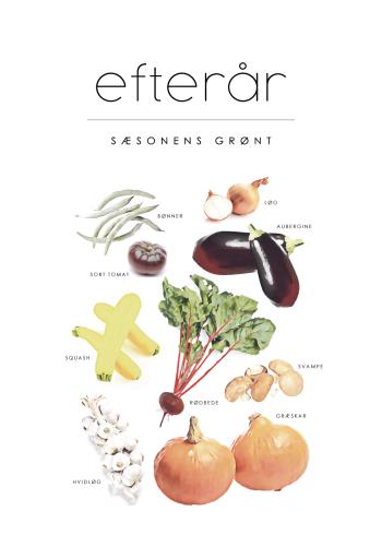 efterårs grøntsager plakat i retro stil