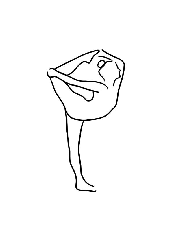 yoga plakat med yoga øvelser på print