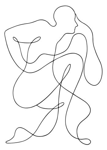 kunstplakater med flotte tegning af et menneske