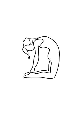 yoga plakat med yoga stillinger