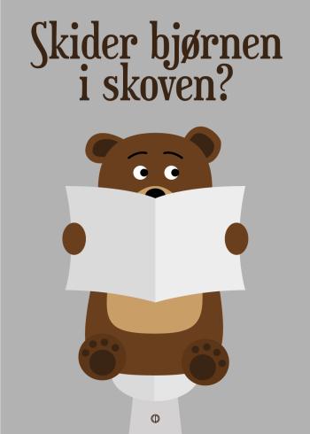 citat plakat skider bjørnen i skoven