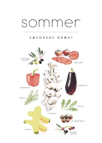sæson grøntsager plakat med sommer
